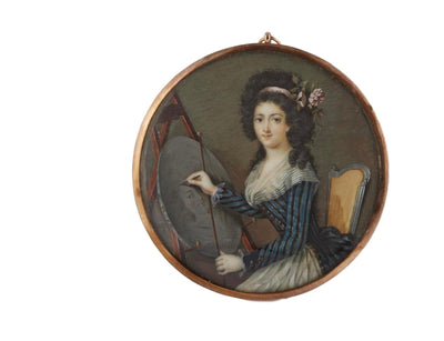 18th Century Portrait Miniature of a Female Artist - Helen Storey Antiques
