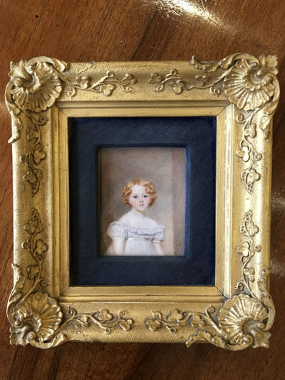 Charming Little Girl 1821 English Portrait Miniature - Helen Storey Antiques