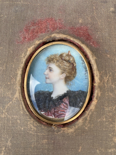 Rapetti Portrait Miniature - Charleston Interest - Helen Storey Antiques