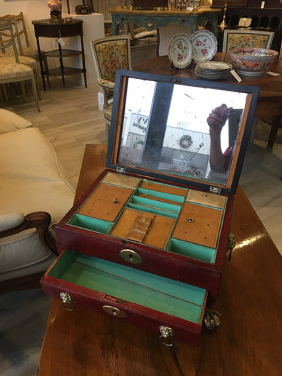 Regency Jewelry  Dressing Sewing Box - Helen Storey Antiques