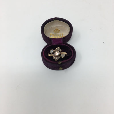 19th Century 18k Gold Rose Cut Diamond Ring - Helen Storey Antiques