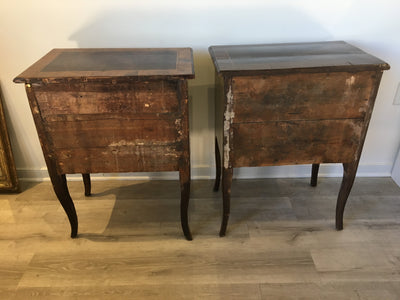 Pair 18th C. Italian Commodinis - Side Tables - Stands - Helen Storey Antiques