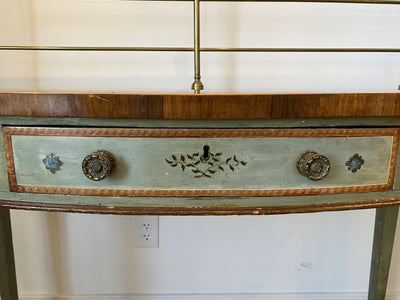 Sideboard - George III Painted Sideboard Server C. 1815