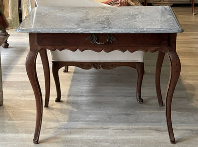 Table - 18TH CENTURY FRENCH PROVINCIAL MARBLE TOP TABLE