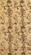 Textile Embroidery - 18TH CENTURY FRENCH SILK BROCADE FLORAL TEXTILE