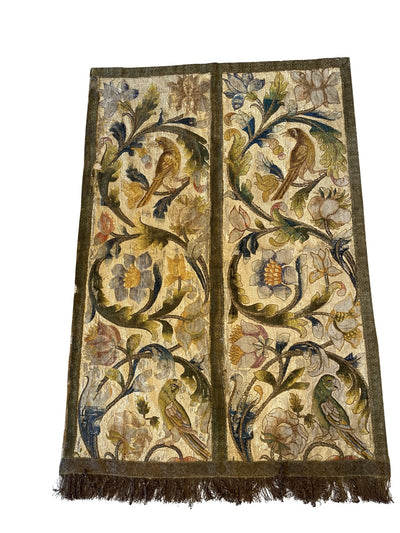 Textile Embroidery - Extraordinary Early Wall Hanging Embroidery