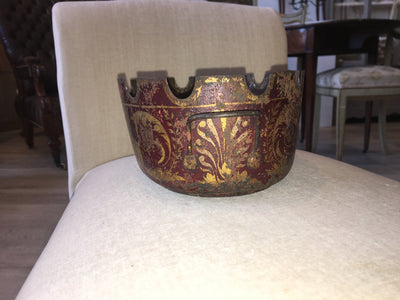 Empire Red and Gilt Decorated Tole Verriere (Monteith) - Helen Storey Antiques