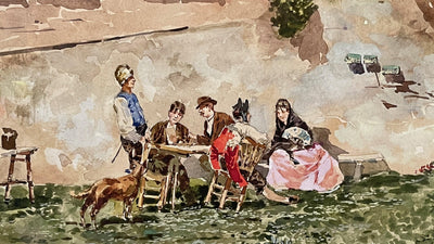Watercolor - RICCARDO PELLEGRINI (MILAN, 1863-1934), WATERCOLOR ON PAPER