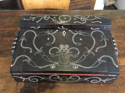 Rare Ebony Anglo-Indian Writing Slope, 19th Century. - Helen Storey Antiques