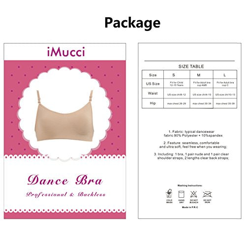 b1dd6df645dff iMucci Professional Beige Clear Back Bra - Seamless Backless Freebra ...