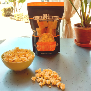 Aged White Cheddar Popcorn - Kettle Heroes Artisan Popcorn