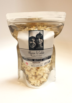 Custom Wedding Popcorn Favors - Kettle Heroes Artisan Popcorn