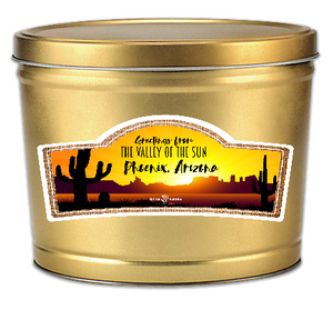 Greetings from Phoenix - Popcorn Gift Tin - Kettle Heroes Artisan Popcorn