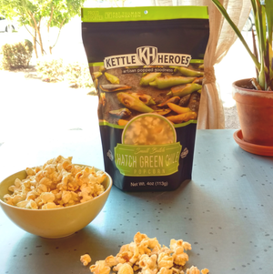 Hatch Green Chile Cheddar Popcorn - Kettle Heroes Artisan Popcorn