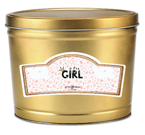 It's a Girl - Popcorn Gift Tin - Kettle Heroes Artisan Popcorn