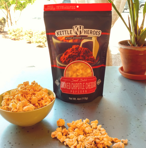 Smoked Chipotle Cheddar Popcorn - Kettle Heroes Artisan Popcorn