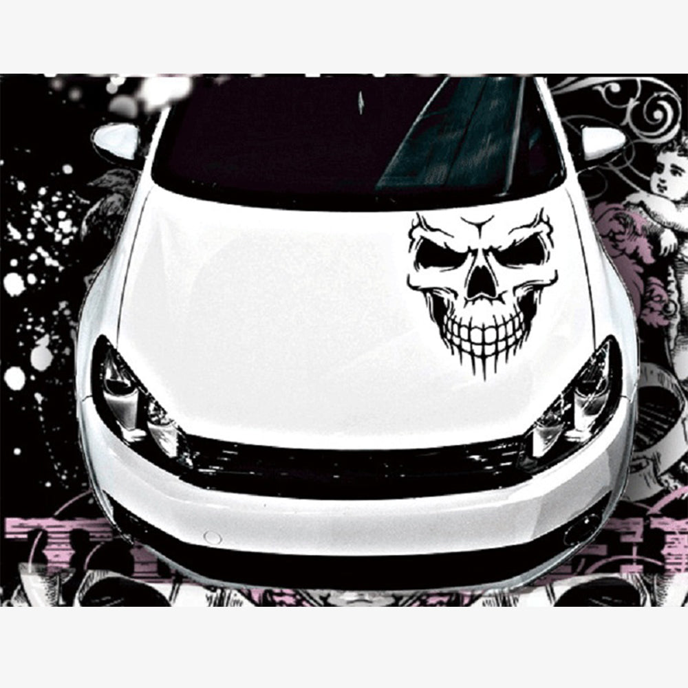 Big 4036cm car stickers skull head reflective