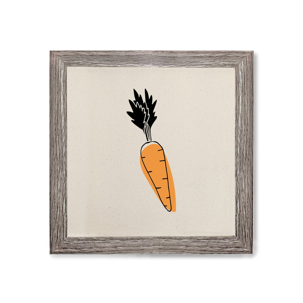 Carrot Canvas Kitchen Wall Art