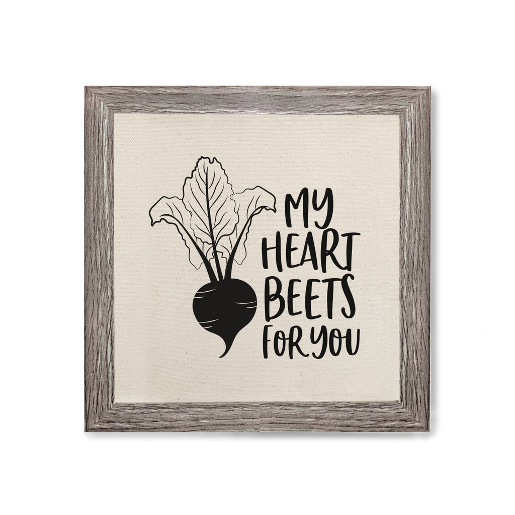 My Heart Beets for You Canvas Kitchen Wall Art