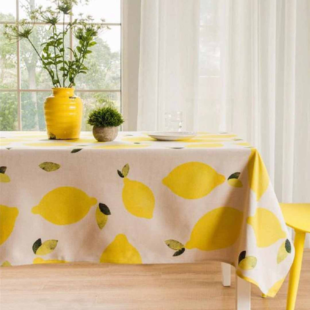 Lemon Indoor Outdoor Tablecloth