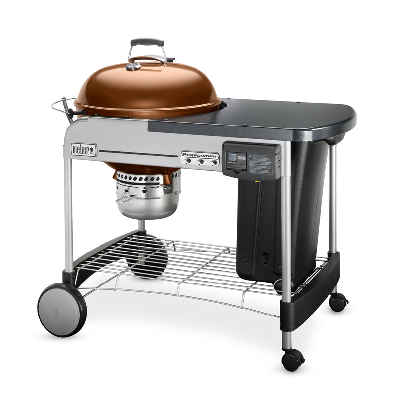 Weber Performer Deluxe Charcoal Grill, 22-Inch, Copper - 15502001