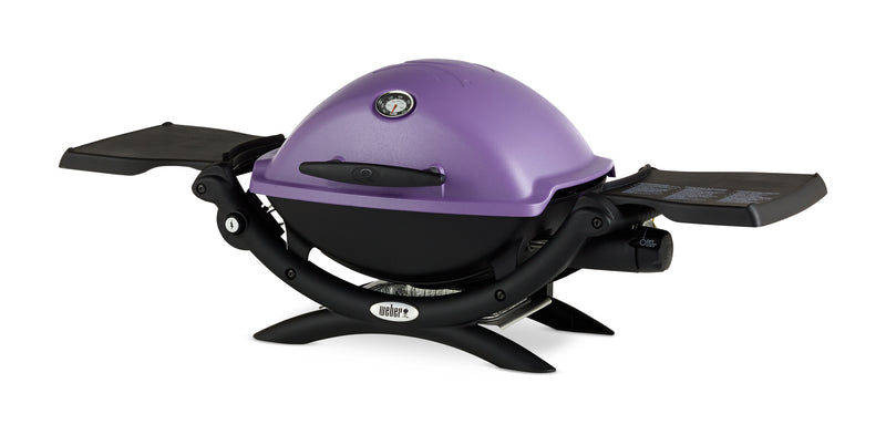 Weber Q1200 Liquid Propane Grill, Purple - 51200001