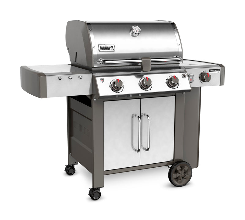 Weber Genesis II LX S-340 Natural Gas Grill, Stainless Steel - 66004001