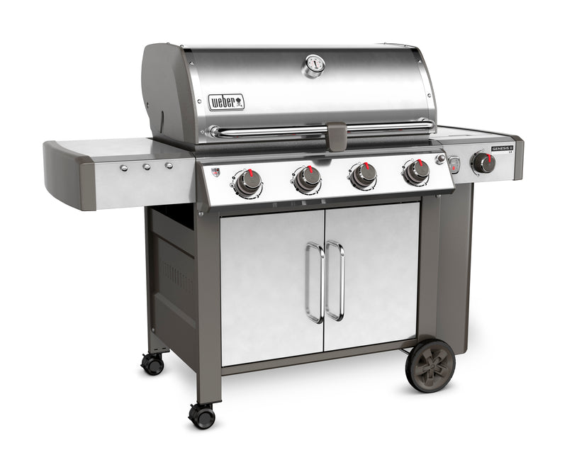 Weber Genesis II LX S-440 Natural Gas Grill, Stainless Steel - 67004001