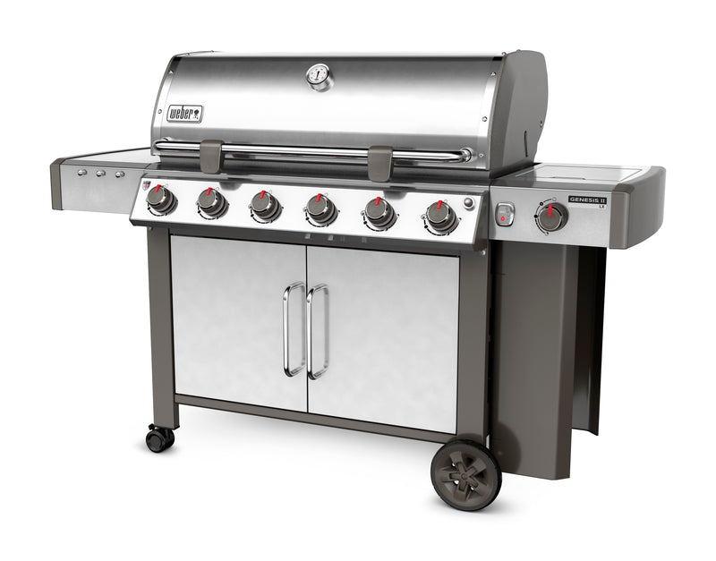 Weber Genesis II LX S-640 Natural Gas Grill, Stainless Steel - 68004001