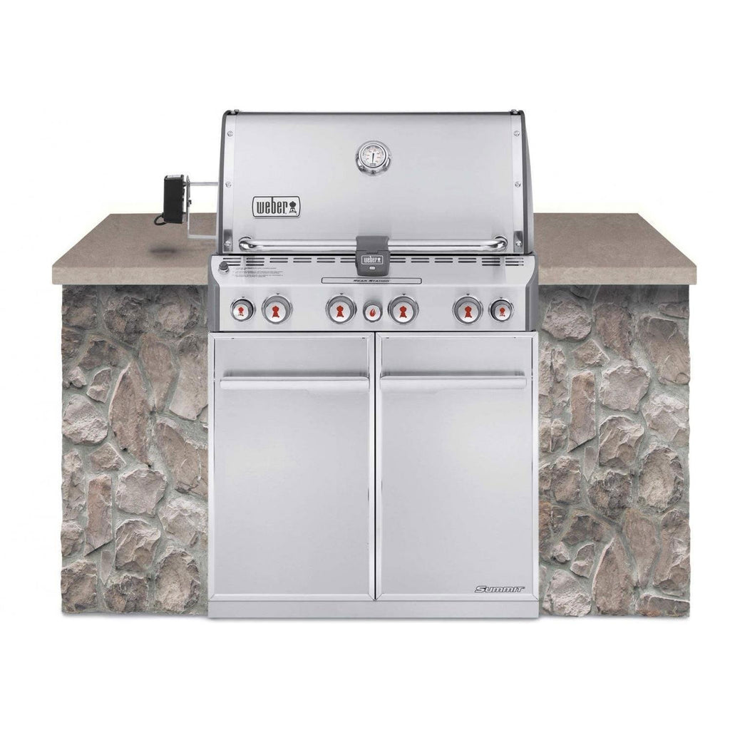 Weber Summit S-460 Built-In Liquid Propane in Stainless Steel Grill - 7160001