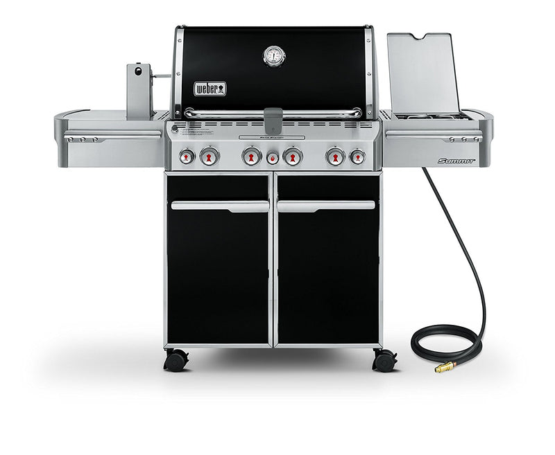 Weber Summit E-470 580 sq. in. 48, 800-BTU Natural-Gas Grill, Black - 7271001