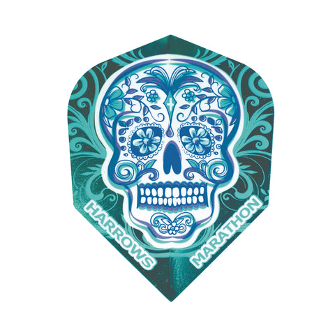 Harrows - Harrows Marathon 1513 Skull Dart Flights - Mad On Darts -  Flights