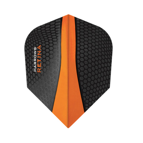Harrows - Harrows Retina 5504 Orange Dart Flights - Mad On Darts -  Flights