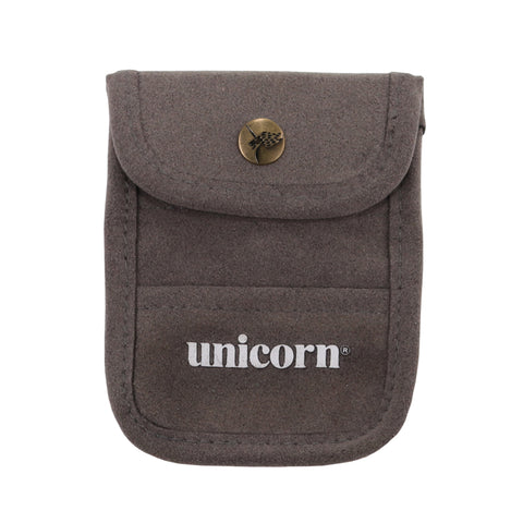 Unicorn - Unicorn Accessory Pouch - Grey Flocked Leather - Mad On Darts -  Accessories