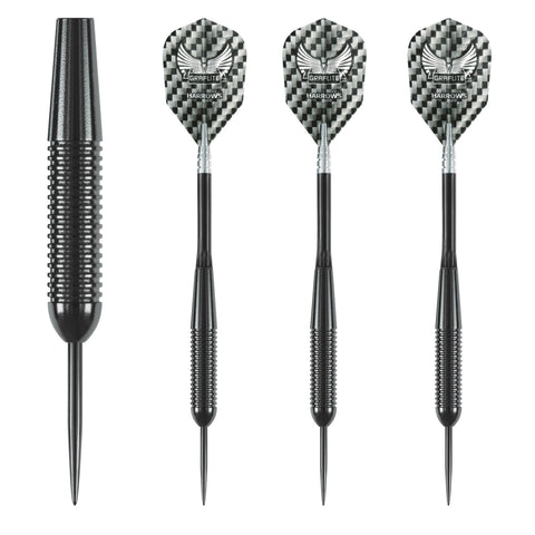Harrows - Harrows Black Arrow 19g Steel Tip Darts - Mad On Darts -  Darts Sets