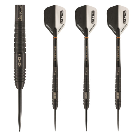 Harrows - Harrows Black Ice 26g Steel Tip Darts - Mad On Darts -  Darts Sets