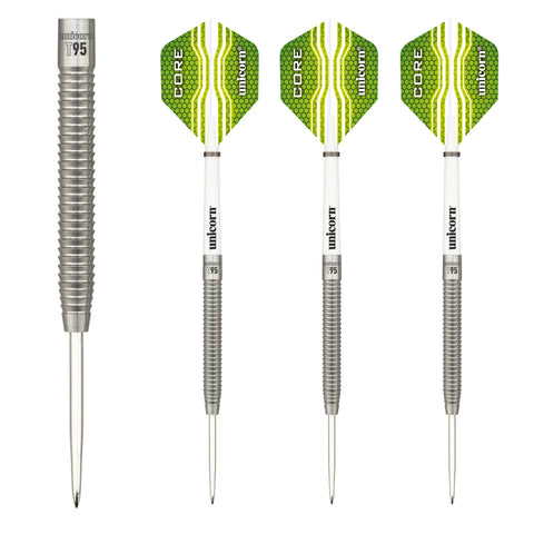 Unicorn - Unicorn Core XL T95 B II Steel Tip Darts - Mad On Darts -  Darts Sets