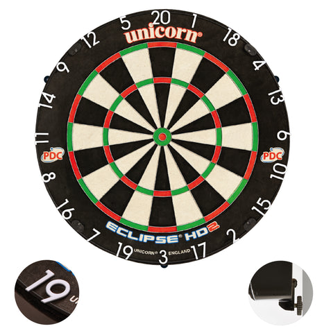 Unicorn - Unicorn Eclipse HD 2 Pro Edition Dartboard - Mad On Darts -  Dartboards & Oche Accessories