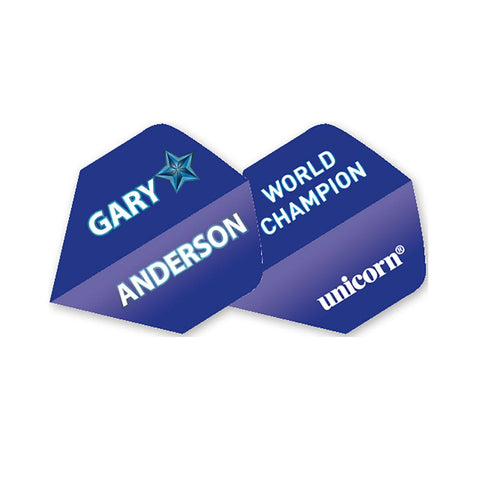 Unicorn - Unicorn Authentic .100 Gary Anderson Blue Star Dart Flights - Mad On Darts -  Flights