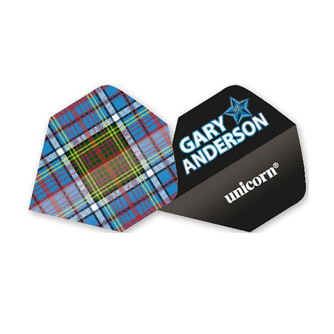 Unicorn - Unicorn Authentic .100 Gary Anderson Tartan Dart Flights - Mad On Darts -  Flights