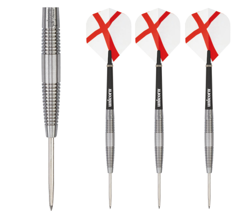 Unicorn - Unicorn Generation 180 Jack Warner Steel Tip Darts - Mad On Darts -  Darts Sets