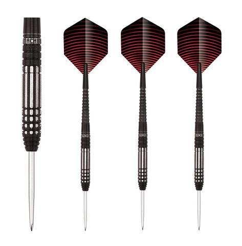 Unicorn - Unicorn Machina Black Steel Tip Darts - Mad On Darts -  Darts Sets