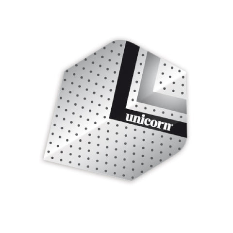 Unicorn - Unicorn Maestro .100 Silver Black Dart Flights - Mad On Darts -  Flights
