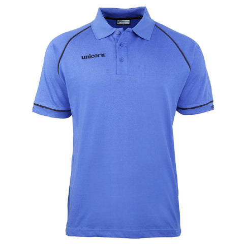 Unicorn - Unicorn Match Polo Shirt Blue Black - Mad On Darts -  Dart Shirts