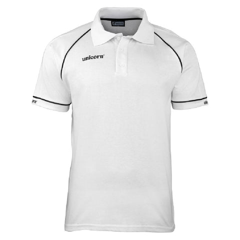 Unicorn - Unicorn Match Polo Shirt White Black - Mad On Darts -  Dart Shirts