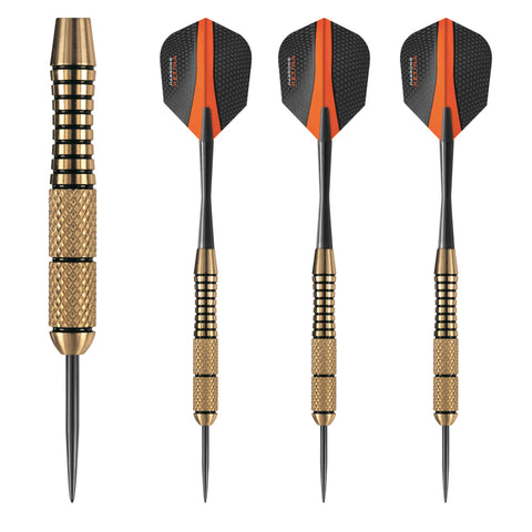Harrows - Harrows Matrix Brass Steel Tip Darts - Mad On Darts -  Darts Sets