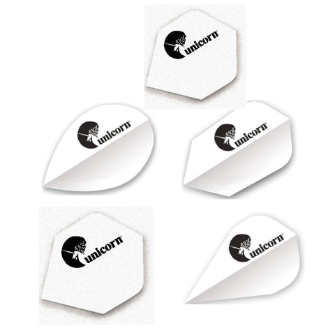 Unicorn - Unicorn Maestro .100 Monochrome Dart Flights White - Mad On Darts -  Flights