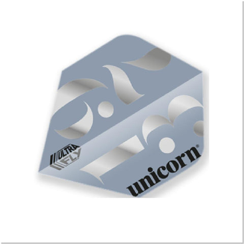 Unicorn - Unicorn Ultrafly.100 Origins Silver Darts Flights - Mad On Darts -  Stems