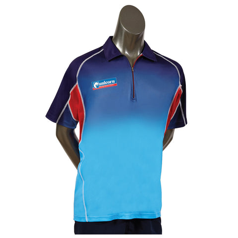 Unicorn - Unicorn Pro Darts Shirt Navy Blue Red - Mad On Darts -  Dart Shirts