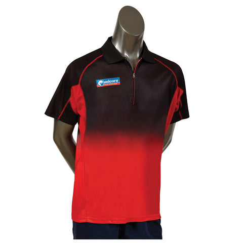 Unicorn - Unicorn Pro Darts Shirt Black Red - Mad On Darts -  Dart Shirts